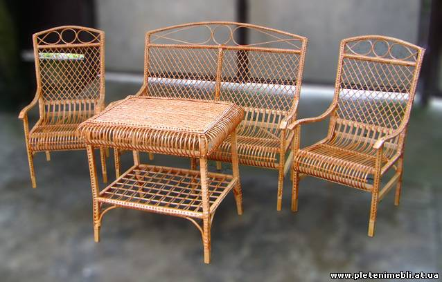 Плетеная дачная мебель своими руками
